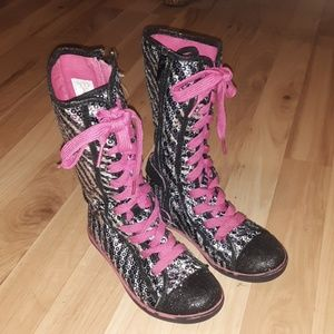 Girls Sz. 13 Bongo Levi Canvas Tall Boot